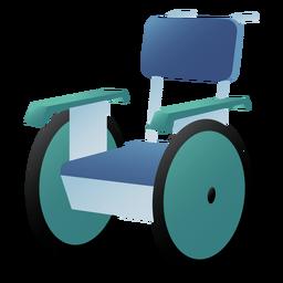 Silla de ruedas hospitalaria de color