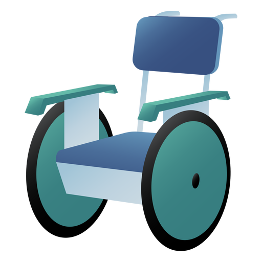 Hospital wheelchair colored Transparent PNG