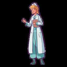 Ilustración con portapapeles médico