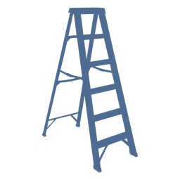Ladder support silhouette