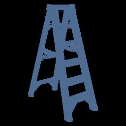 Silhueta de suporte de escada