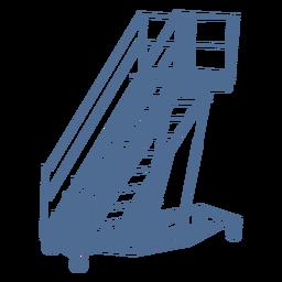 Ladder wheels silhouette