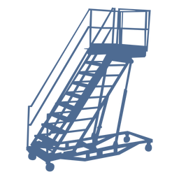 Silueta de ruedas de escalera