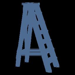 Escalera con soporte silueta