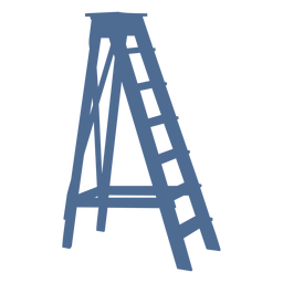 Ladder with stand silhouette