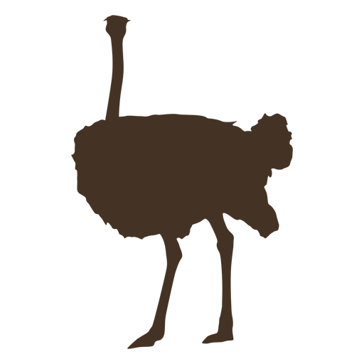 Large ostrich silhouette Transparent PNG