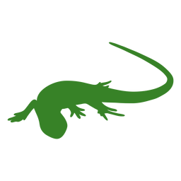 Lizard silhouette crawl pose