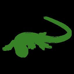 Pose de rastreo de silueta de lagarto