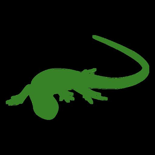 Lizard silhouette crawl pose
