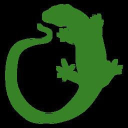 Silhueta de lagarto de cauda longa