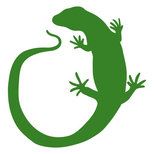 Lizard silhouette long tailed