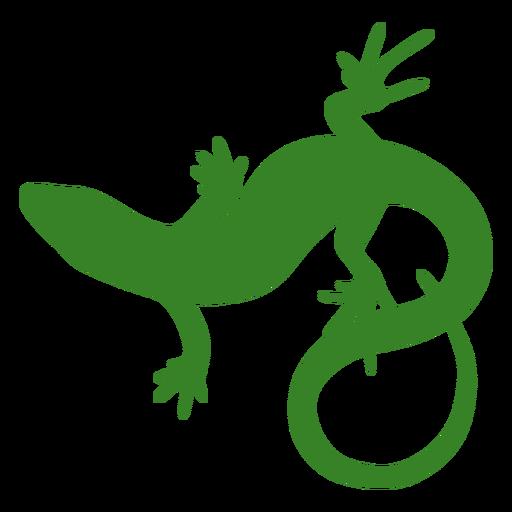 Vista superior de la silueta de lagarto