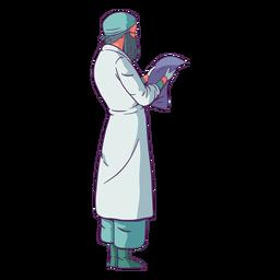 Blick auf Papier Arzt farbig