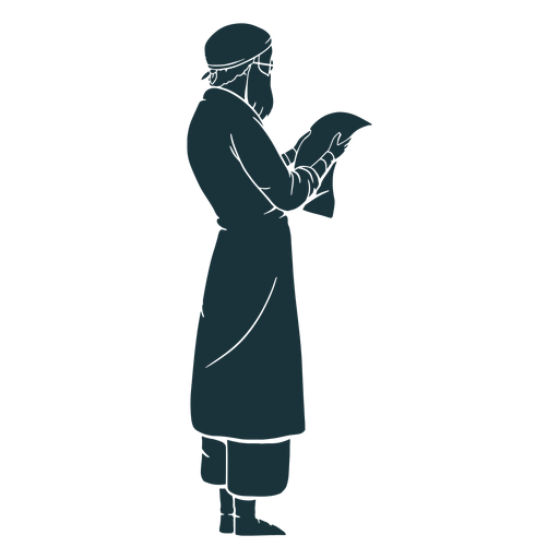 Looking at paper doctor silhouette Transparent PNG