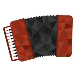 Low poly accordion colored