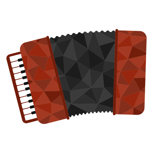 Low poly accordion colored Transparent PNG