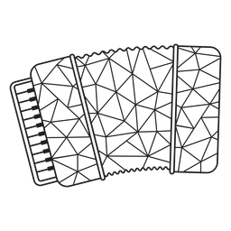Low poly accordion stroke