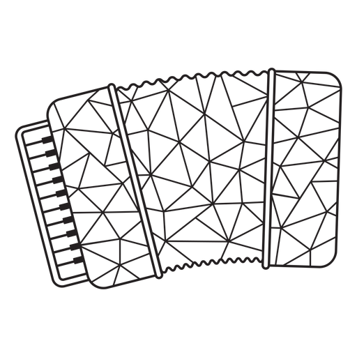 Low poly accordion stroke Transparent PNG