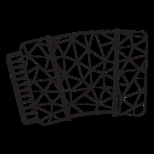 Low poly accordion stroke