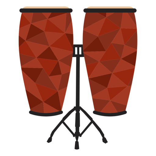 Low poly conga colored