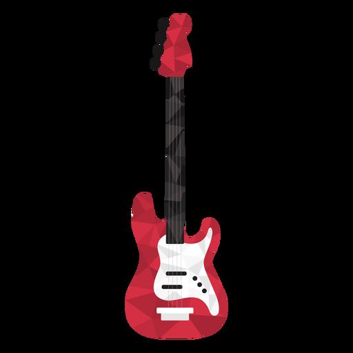 Guitarra eléctrica low poly de colores