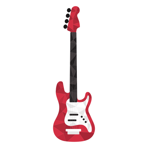 Low poly electric guitar colored Transparent PNG