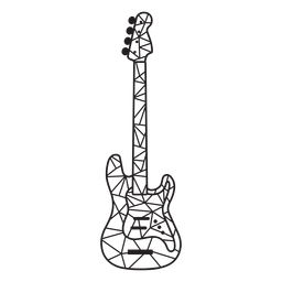 Golpe de guitarra elétrica low poly