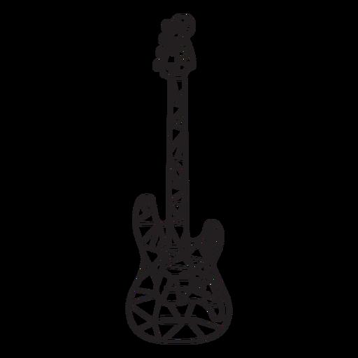 Golpe de guitarra eléctrica low poly