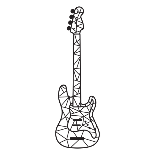 Low poly electric guitar stroke Transparent PNG