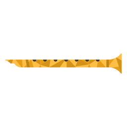 Low poly flute colored flute