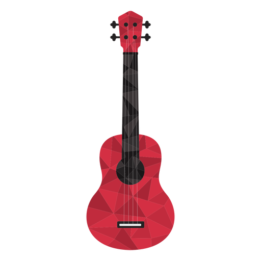 Guitarra low poly colorida