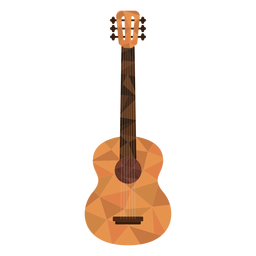 Low poly guitar colored guitar