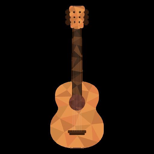 Low poly guitar colored guitar