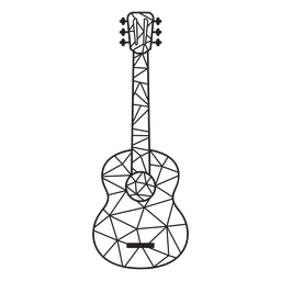 Low poly guitar stroke