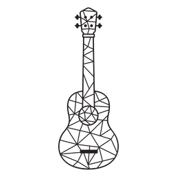 Low poly guitar stroke guitar