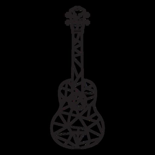Guitarra de trazo de guitarra low poly