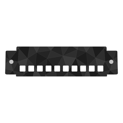 Low poly harmonica colored