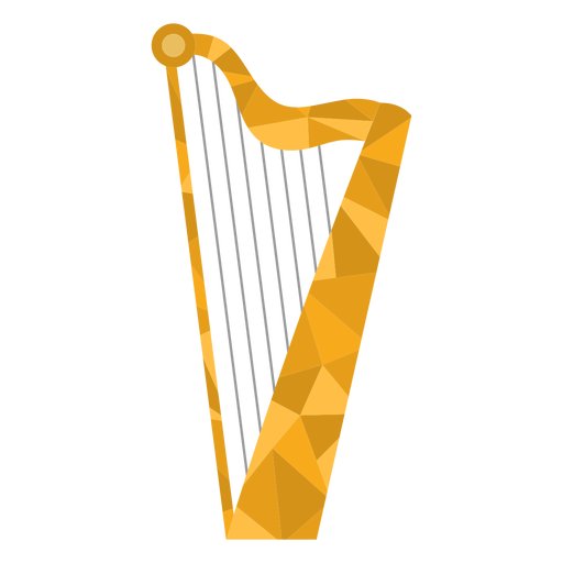 Low poly harp colored