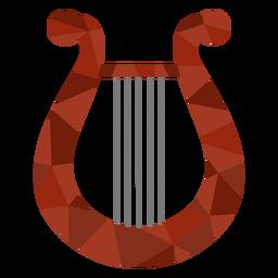 Harpa colorida de poli baixa harpa