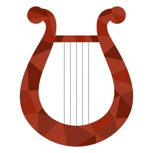 Low poly harp colored harp