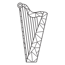 Low poly harp stroke