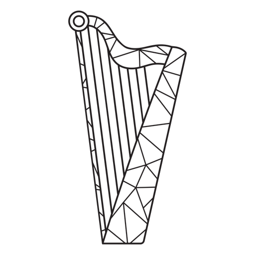 Low poly harp stroke Transparent PNG