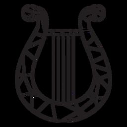 Harpa de baixo curso de harpa poli
