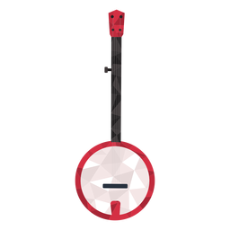 Low poly long guitar round body