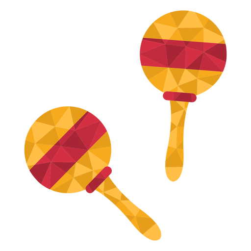 Low poly maracas colored Transparent PNG