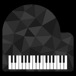 Piano de bajo poli color