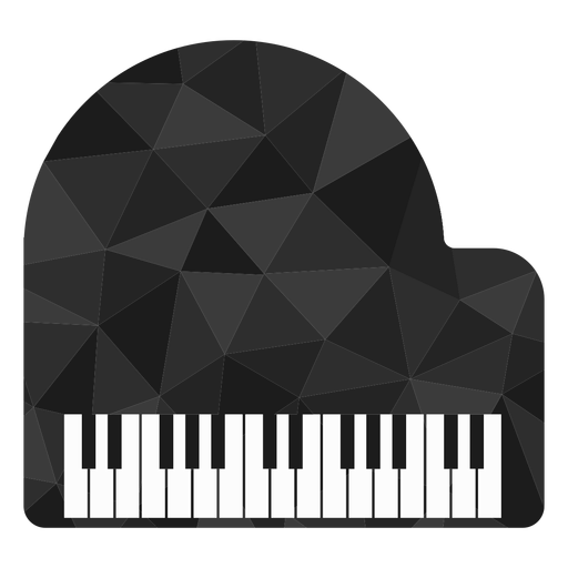 Low poly piano colored Transparent PNG