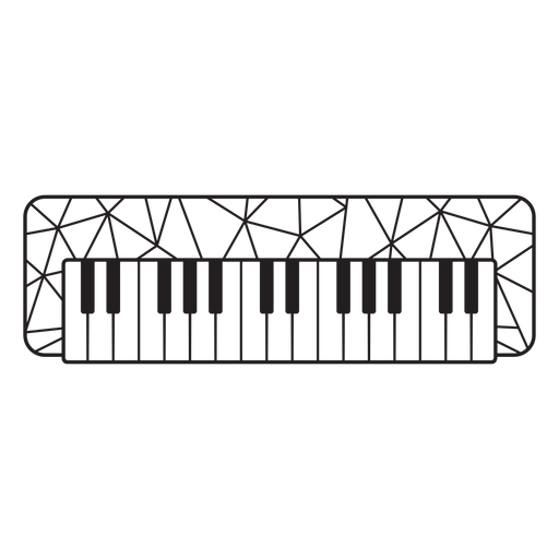 Low poly piano stroke Transparent PNG