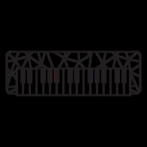 Low poly piano stroke