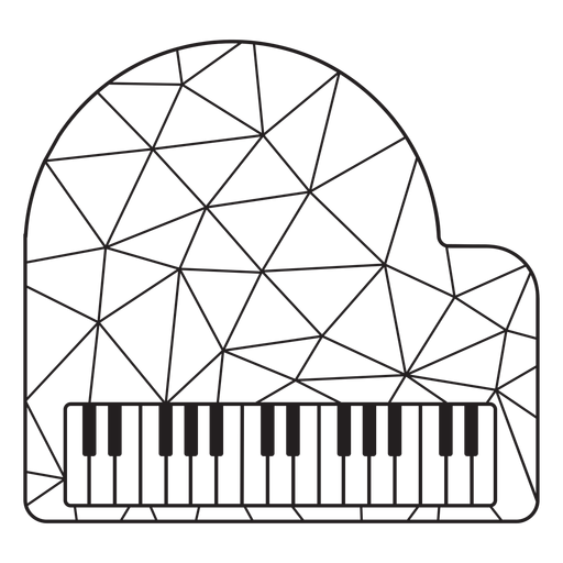Low poly piano stroke piano Transparent PNG